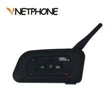 VNETPHONE 1200m Motorcycle Helmet Bluetooth Interphone Headset 4 Riders BT Intercom with FM Radio Wireless Interphone MP3