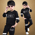 2017 NEW spring child clothing child boy spring sports set boys sweater kids sets 6-16Y