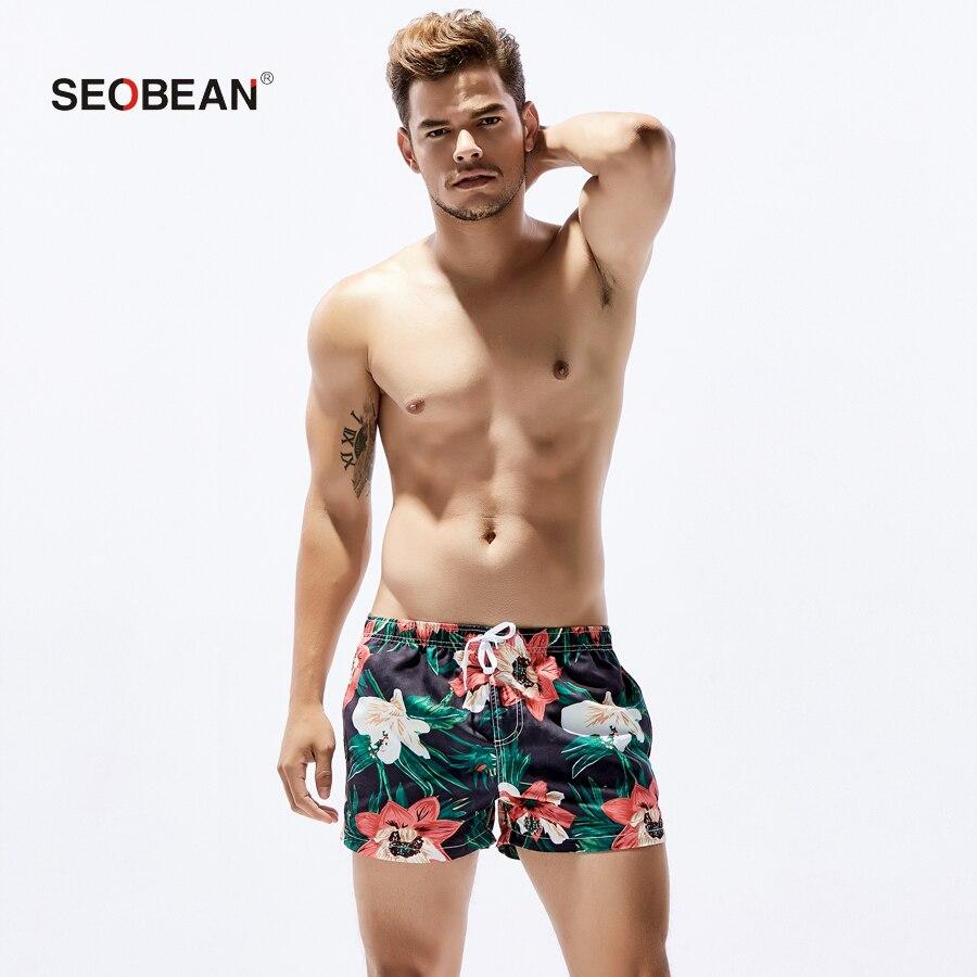 2018 sommer Herren sexy Blume hosen Männlich Jogginghose Vorstands Strand schwimmen surfen Shorts Herren Shorts Bottoms badebekleidung Schnell Trocknend