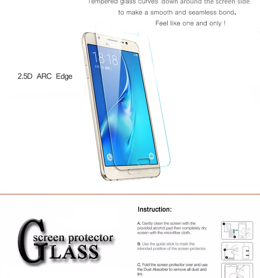 Protective Glass on the For Samsung Galaxy J3 J5 J7 A3 A5 A7 2015 2016 2017 A6 A8 Plus 2018 Tempered Screen Protector Glass Film 6