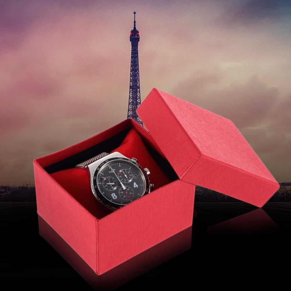 ホットブレスレットジュエリーと時計表示の時計ホルダー内側フォームパッドプレゼントギフトボックスケースのバンの時計ボックス、包装