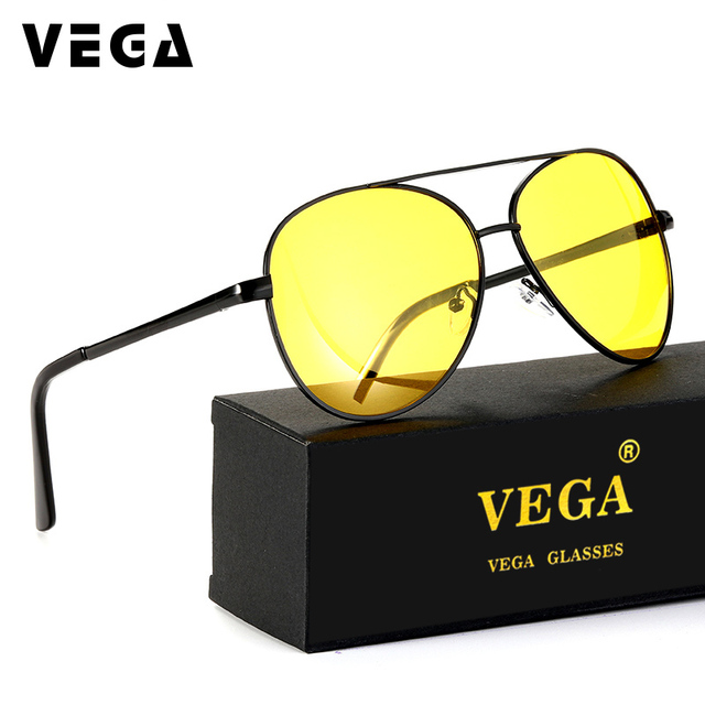 3789aa0f8 VEGA Polarized Night Vision Sunglasses Men Women Best Driving Glasses At  Night Clear Yellow Lens Anti Glare UV400 2081