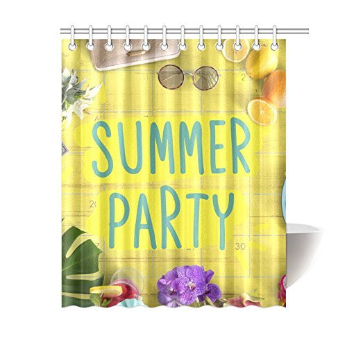 Aplysia Custom Summer Break Fun Party Bathroom Waterproof Fabric
