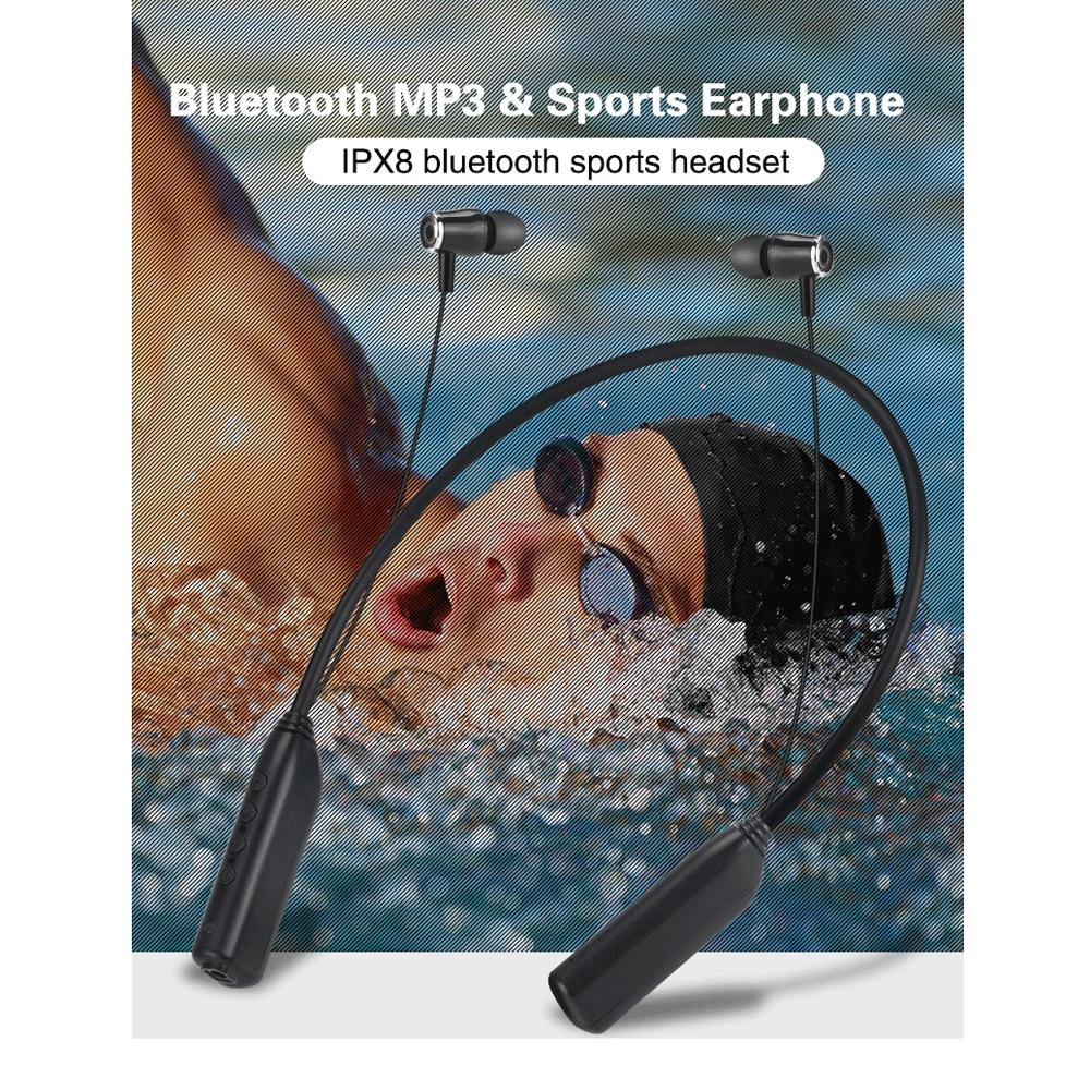 Outdoor IPX8 V32 Bluetooth Waterproof Swimming MP3 Player Sport Headphone HiFi Music 8G/16G/32G Memory Earphones