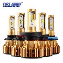 Oslamp Авто H4 светодио дный фар для автомобиля 6500 К SMD чипов 9005 HB3 9006 HB4 светодио дный H7 автомобилей лампочки 70 Вт все-в-одном H11 лампы 2 шт./упак.
