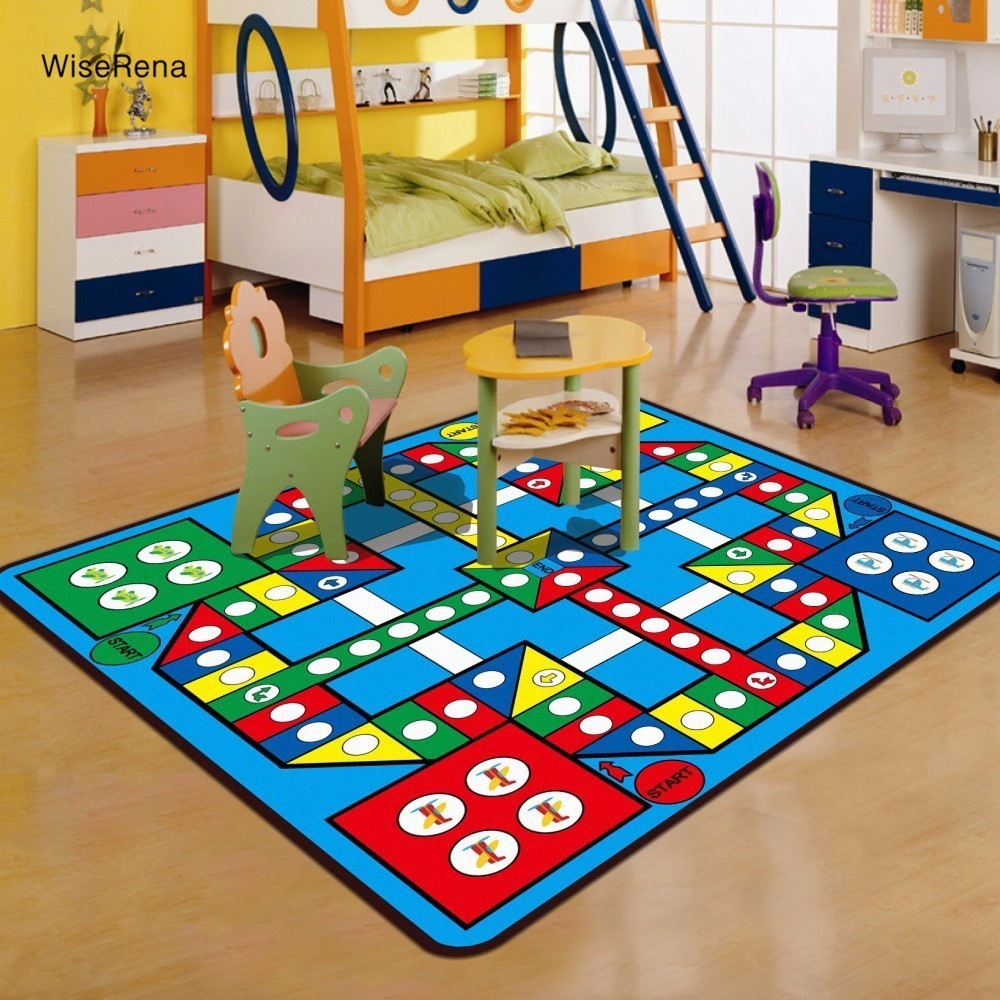 Square Carpet Children Kids Play Rugs