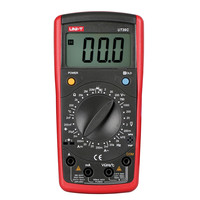 UNI-T UT39C Digital Multimeter Universal Meter LCD Count 1999 Manual Range Testers AC DC V/A Ohm Temp Hz Tester tools