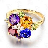 Ручной работы персонализированные Серебряный diamond аметистовое кольцо персонализированные пользовательские имя Золотое кольцо jewelry выграв