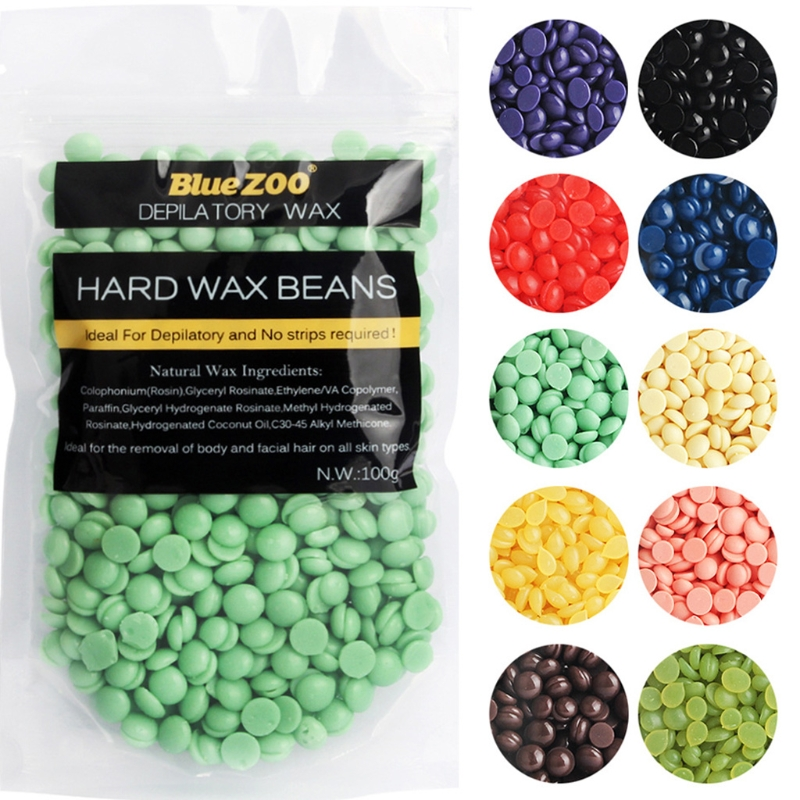 100g Hot Bikini Hair Removal Depilatory Waxing Granules Pellet Hard Wax Beans t35