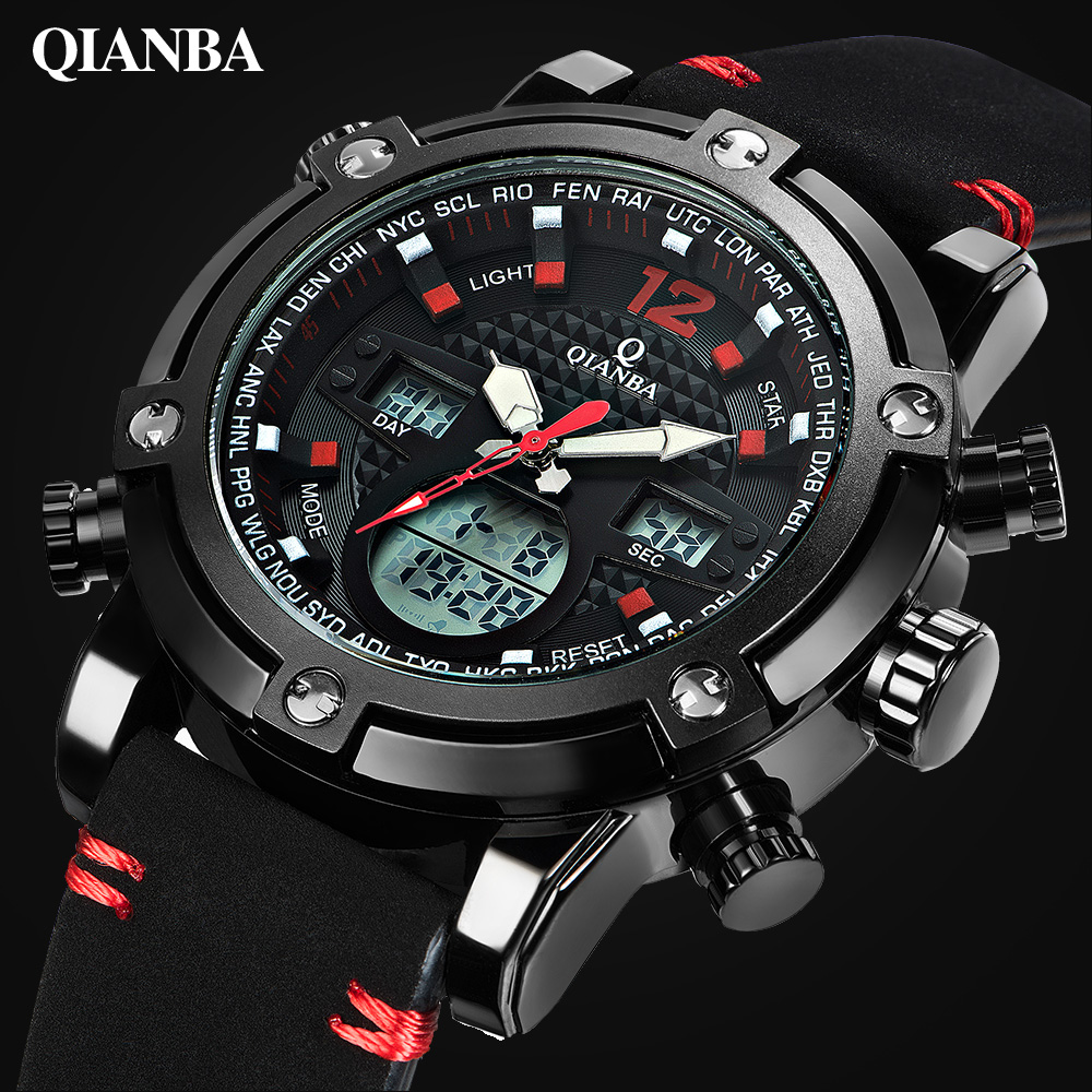 Men Sport Watch Top Luxury Brand Dual Display Quartz Analog Digital LED for Man Army Military Wrist Watch Relogio Masculino стоимость