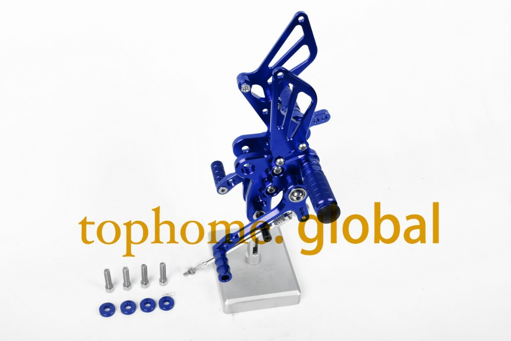 Motorcycle Blue CNC Rearsets Foot Pegs Rear Set For Suzuki GSXR1300 Hayabusa 1999-2007 2000 2001 2002 2003 2004 2005 2006