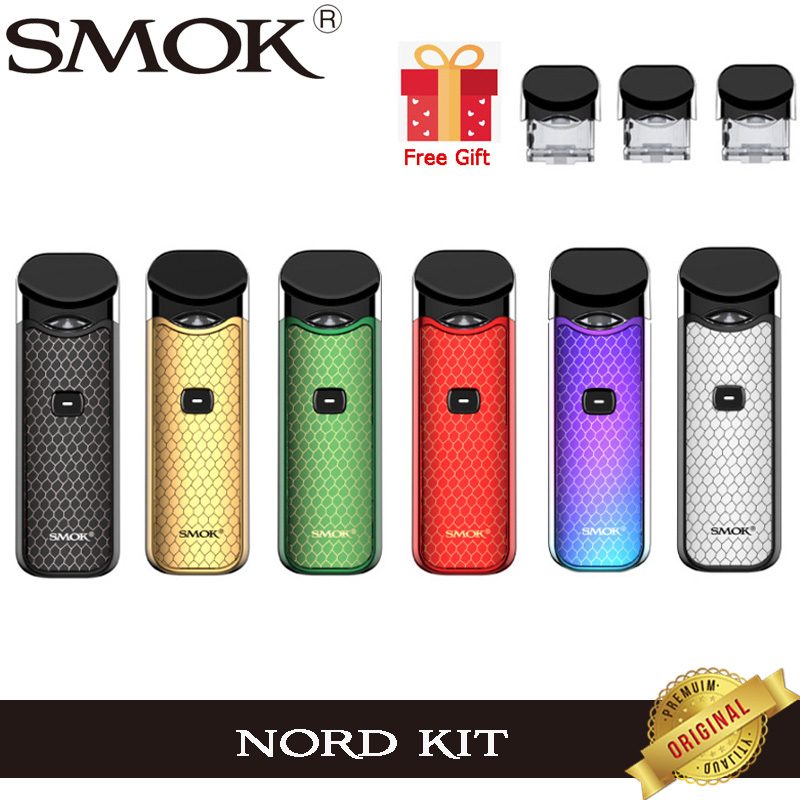 Original Smok Nord Pod Starter Kit With 1100mAh Battery 3ML Cartridge Atomizer With Nord Mesh Coil Electronic Cigarette Vape