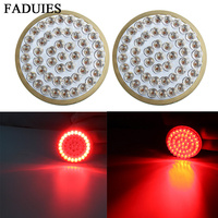 FADUIES Motorcycle 1157 Turn Signal LED Inserts 2 Bullet Style Red For Harley Dyna 12 17 For Harley Tri Glide 14 15 16