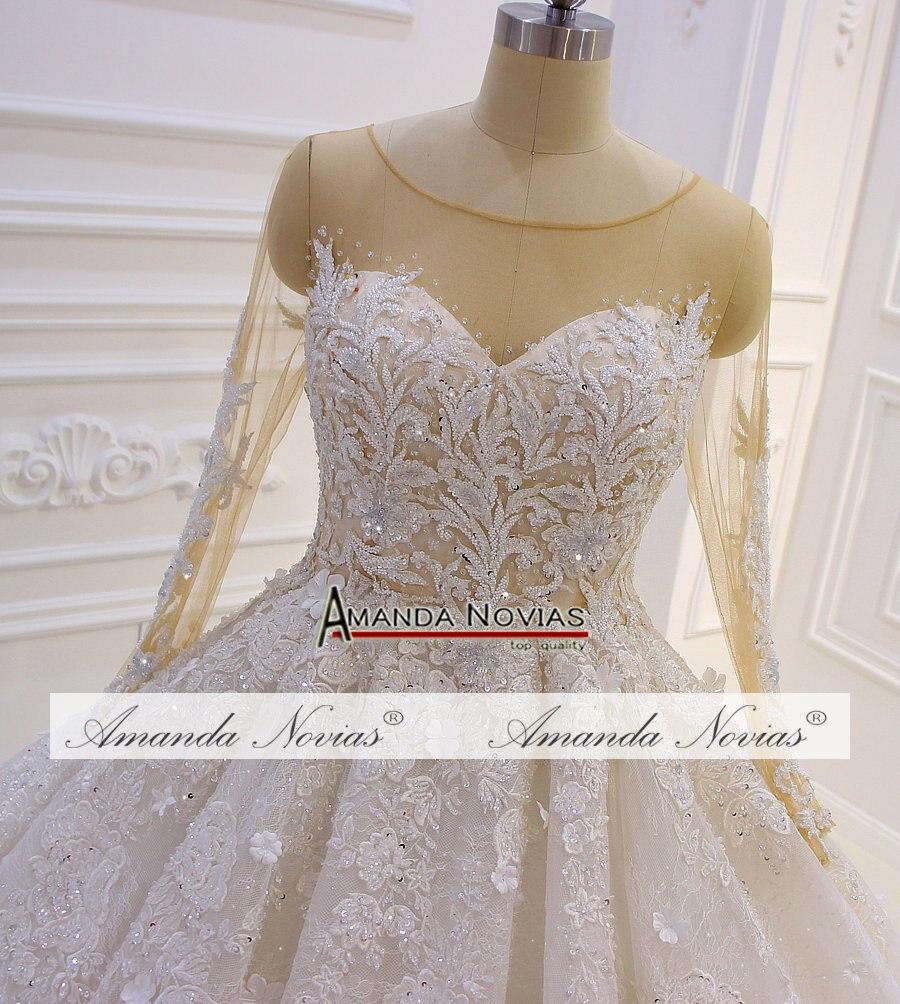 Image 2 - Amazing New Model 2019 Long Sleeve Lace Wedding Dresses Amanda NoviasWedding Dresses   -