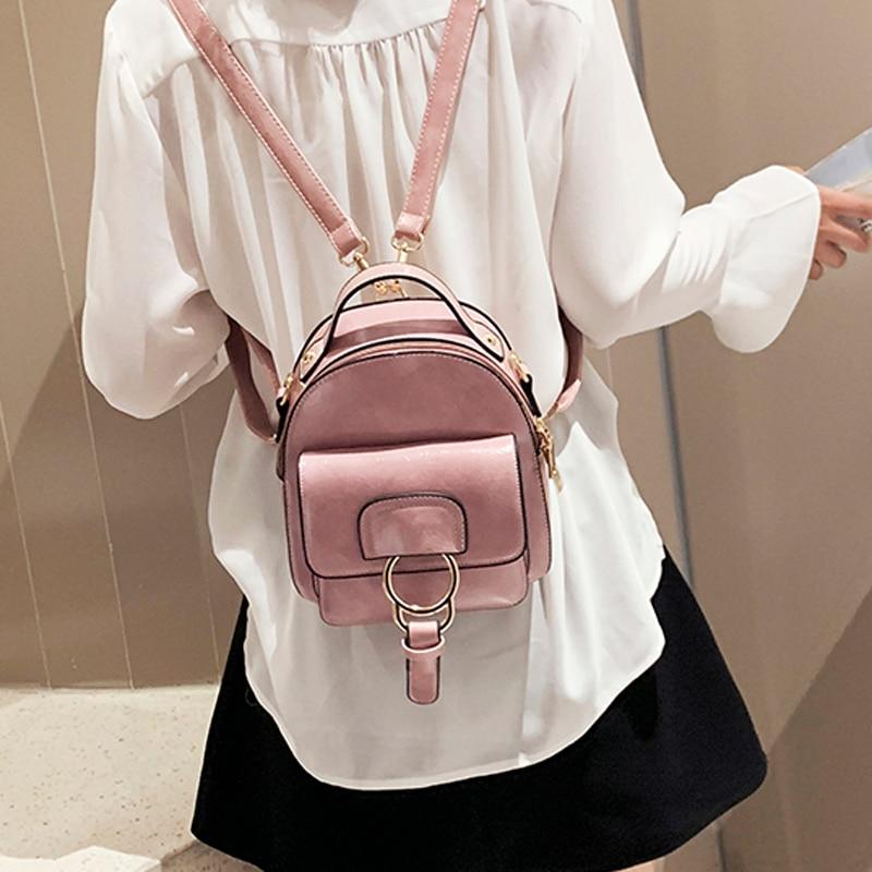 Fashion Women Leather Backpack Children Backpack Mini School Bag Backpack Female Back Pack For Teenage Girls Small Shoulder Bags