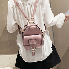 Fashion Women Leather Backpack Children Mini School Bag Female Back Pack for Teenage Girls Small Shoulder Bags