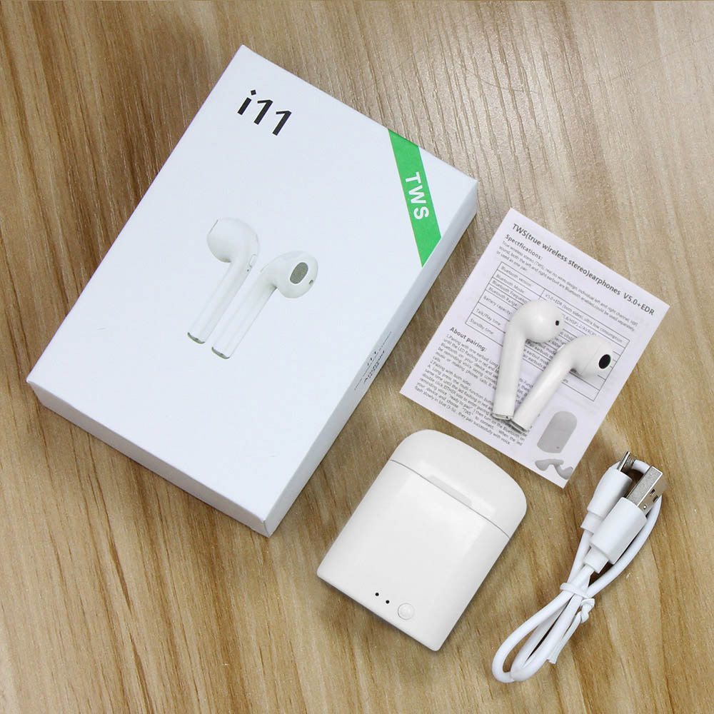 <font><b>i11</b></font> <font><b>TWS</b></font> Mini <font><b>Wireless</b></font> <font><b>Bluetooth</b></font> <font><b>Earphone</b></font> <font><b>5.0</b></font> <font><b>Wireless</b></font> <font><b>Earphones</b></font> Earpieces Earbud Headset i7s With Mic For Xiaomi All Smart Phone image