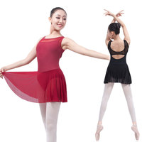 2017Sexy Backless Adult Gymnastics Leotard Black Mesh Dance Leotards Ballet Leotards For Women Dance Wear Justaucorps