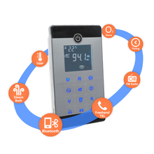 AC 220V CE Certified Remote Controlled 4.5KW Home Use Steam Control Pad Sauna Spa Bath Metal Generator For Bathroom Shower