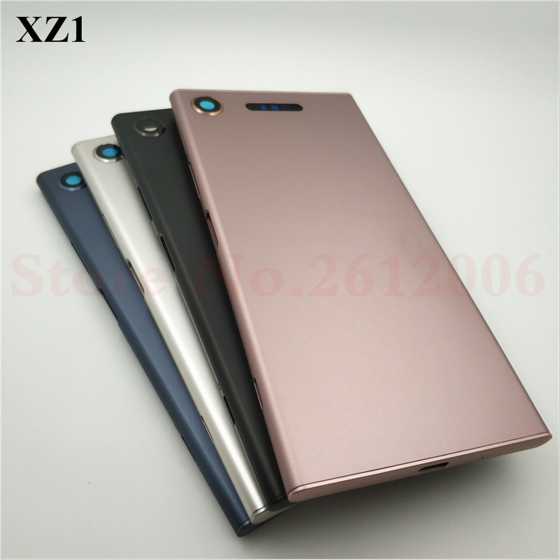 New 5.2'' Metal Battery Housing Door Back Cover Case For Sony Xperia XZ1 G8341 G8342 Battery Door Back Cover Housing