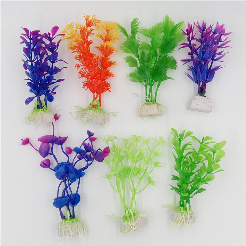 1 pcs Plastic Aquarium Plants Wonder Grass Ornament Decor Landscape for Fish Tank