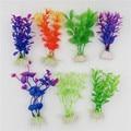1 unids Pza de plástico acuario plantas maravilla hierba ornamental decoración paisaje para pecera