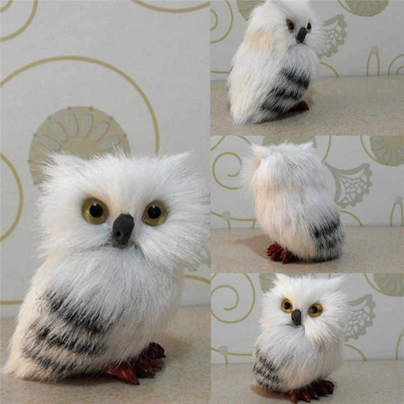 Simulation White Owl Model Real Life Plush Doll Home Decor Toy Christmas Halloween Gift HP Owl