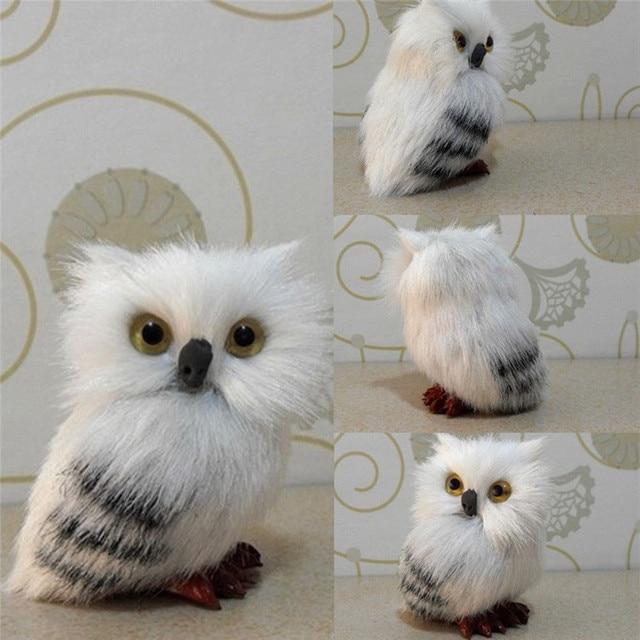 Simulation White Owl Model Real Life Plush Doll Home Decor Toy