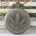 The classic retro fashion quartz watch large maple leaf flip pocket watch pocket watch and creative personality