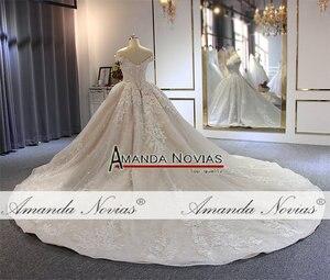 Image 4 - Kapalı omuz askıları robe de soiree düğün elbisesi uzun tren ile
