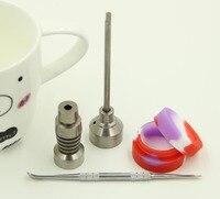 Gr2 التيتانيوم مسمار 14.4 ملليمتر و 18.8 ملليمتر كارب كاب 18.8 ملليمتر slicone جرة للزجاج أنابيب المياه النفط dabber الحفارات النرجيلة