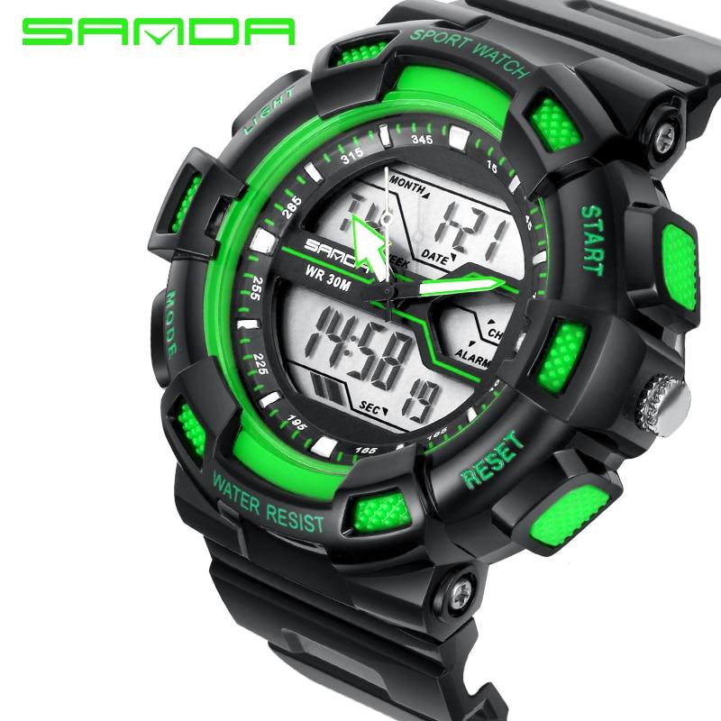 2017 Sanda Fashion Watch Men Waterproof Led Sports Military Shock Resistant Man Analog Quartz Digital Watch Relogio Masculinos Men's Watches