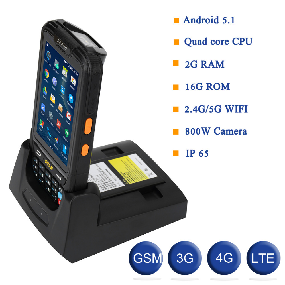 Industrial Rugged Handheld Data Collector Wireless 4G Mobile Data Terminal 1D,2D Laser Barcode Scanner Android PDA Device 3 2 inch wireless android data terminal 1d 2d laser barcode scanner handheld data collector pos pda with bluetooth 3g wifi gps