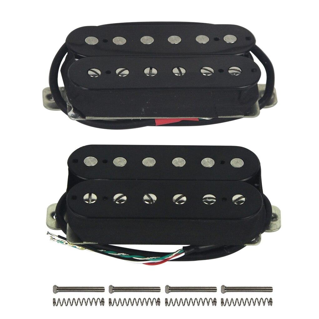 Rockfield Fat Ass Black Humbucker Pickup Set Double Open Guitar Wiring Diagrams Fleor Alnico 5 Coil Neck Bridge 4 Wires High