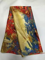 Mercerized Georgette Silk Fabric Fantastic Printed African Silk Fabric For Lady Dress Silk Textile 114cm 5yards