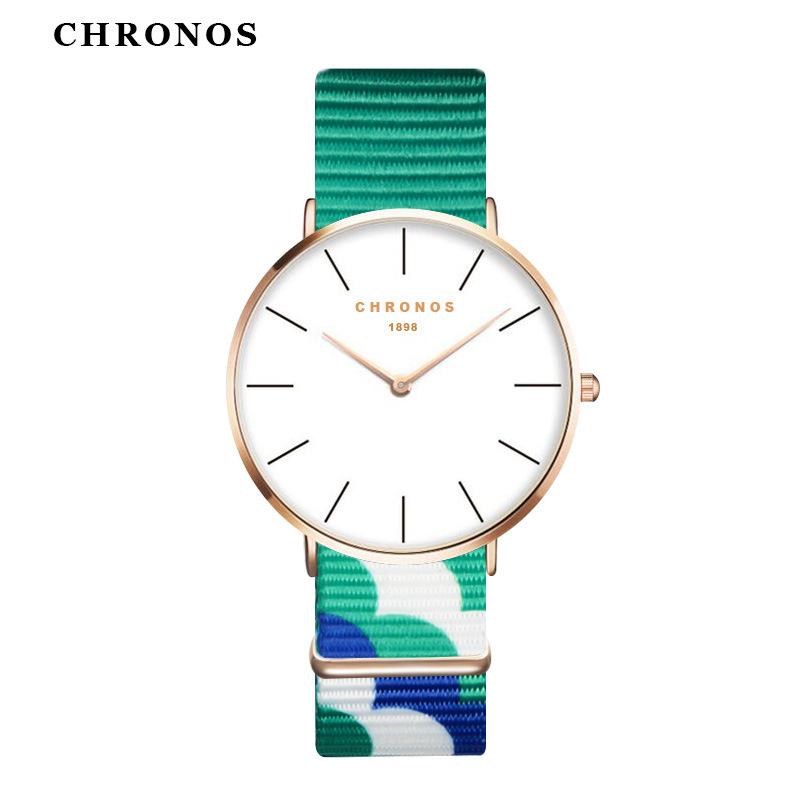 цены  Top Fashion New Brand CHRONOS Nylon Watches Men Women Casual Sport Clock Male Quartz Wrist Watch Relogio Masculino Feminino 2017