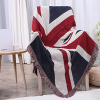 British Flag Blanket Cotton Retro Tassel Sofa Decoration Blanket Bohemian Tapestry Bedspread Tablecloth Travel Blankets