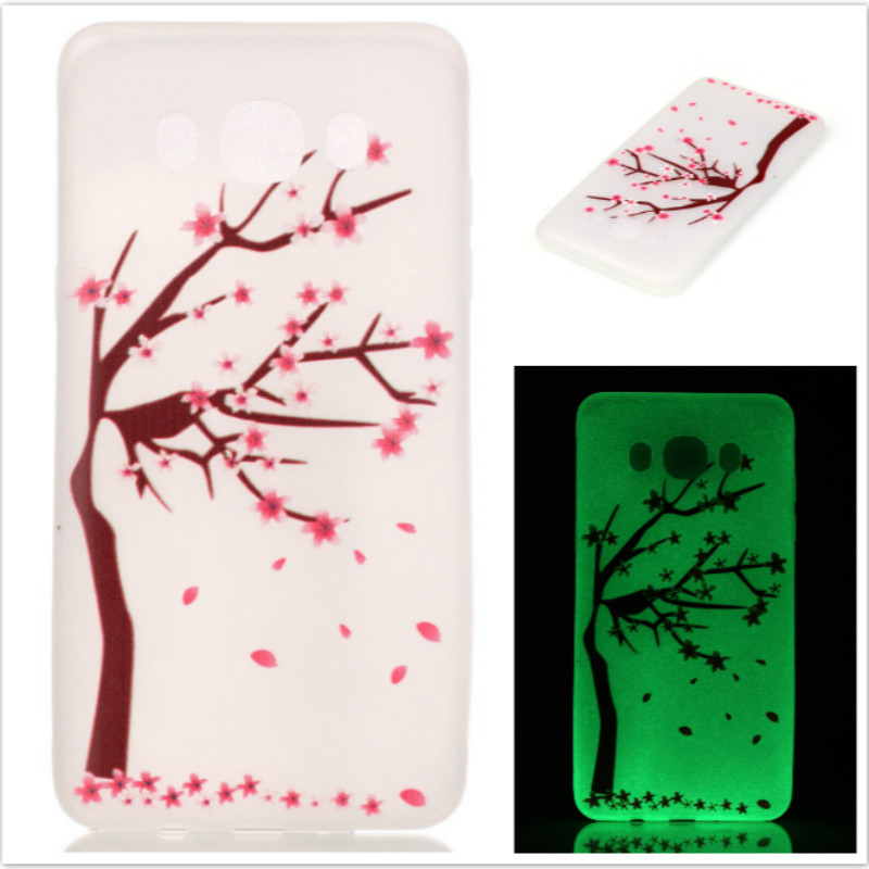 Galleria fotografica Hot! Fashion Fluorescence TPU Slim Phone Cases For Samsung Galaxy J5 2016 J510 J510F Luminous Soft Silicon Phone Cover Case