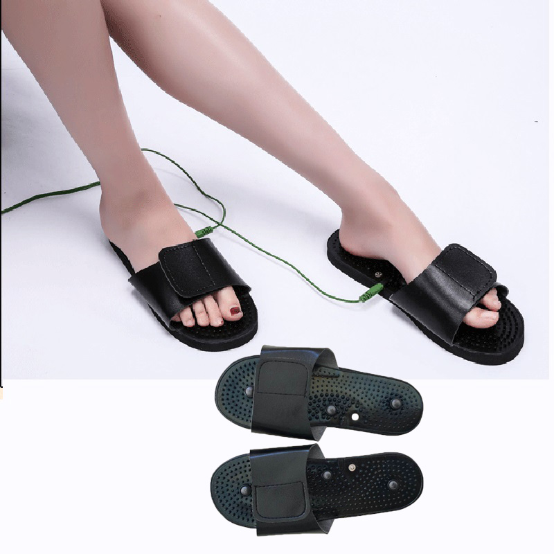 Pulse Tens Acupuncture Therapy Slipper For Electrical Stimulator JR-309 Foot,Body Relax Muscle Massager Health Care Slippers electric stimulator full body relax muscle therapy massager pulse tens acupuncture foot neck back massage slimming slipper 8 pad