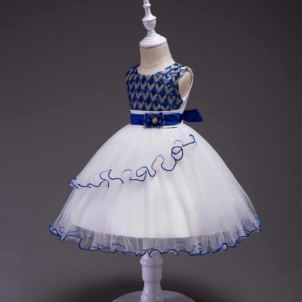 e139ea93df1d ... Vestidos de niñas princesa vestido de fiesta 2 4 8 10 12 15 años sin  mangas ...