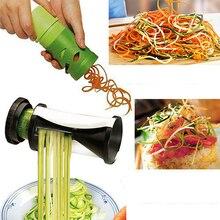Rizado Muelles Verduras ABS Acero Inoxidable 2PK Hortofrutícola Twister Cortador Espiral Slicer Rallador Procesador de Alimentos Inicio Herramienta de la Cocina