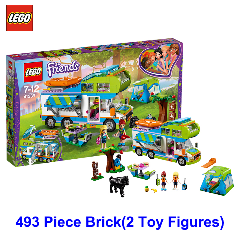 LEGO Friends Series 41339 Mia Camper Building Block Toys Children Educational RV Villa
