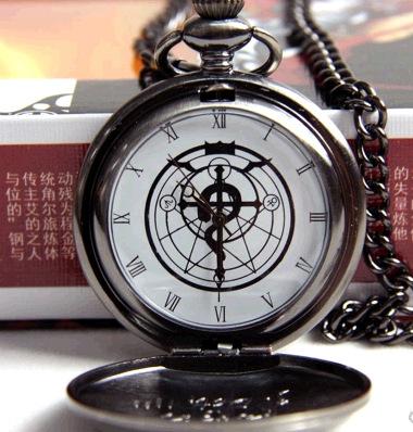 Hot venda Edward Fullmetal Alchemist relógio de bolso colar de pingente de jóias clássico para o amigo presentes originais N0620
