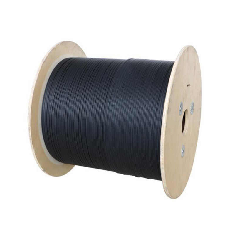 1000m/roll 2 Cores 3 Steel Wire outdoor G657 FTTH fiber optic Drop Wire Cable LSZH sheath G657A FTTH outdoo Fiber Optic Cable