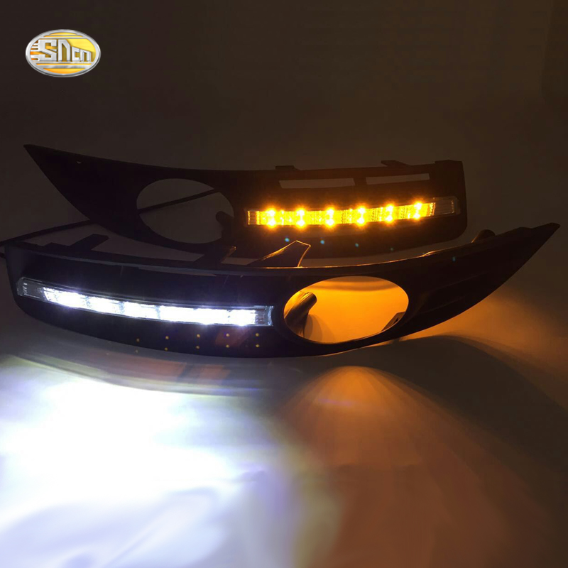 SNCN <font><b>LED</b></font> Daytime Running Lights for Volkswagen Vw <font><b>Passat</b></font> <font><b>B6</b></font> 2007 2008 2009 2010 2011 <font><b>DRL</b></font> Fog lamp cover driving lights image