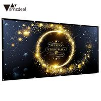 Folded Projection Screen Outdoor 16:9 Movie Screen Durable Gaming Projector Cloth Screen Home Theater