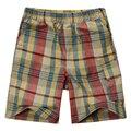 Moda niño niño pantalones cortos a cuadros con tela de algodón 100% tejido 17BS02 Un