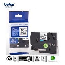 2 шт./лот 18 мм черный на принтер ленты Совместимость для Brother P-touch P touch pt принтер этикеток Ленты Tze141 TZe 141