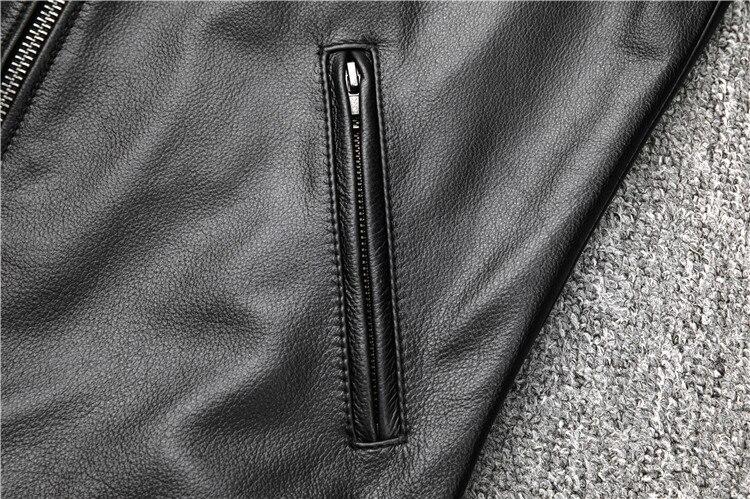 HTB1AWJ6abj1gK0jSZFOq6A7GpXaA Free shipping.fashion style warm mens leather coat,biker cowhide Jacket,black genuine Leather coat.plus size homme slim,cool