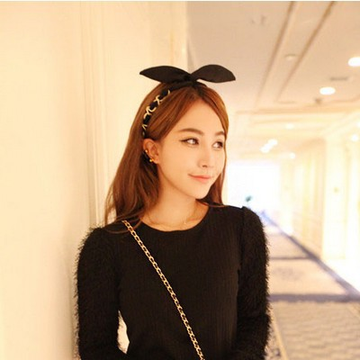 The new han edition hair headwear With rabbit ears take the lead, free home delivery han edition of the new bankcard yarn rope ribbon hair with hair hoop hair tire wholesale